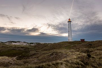 Leuchtturm Lyngvig Fyr bei Nacht von Matthias Nolde