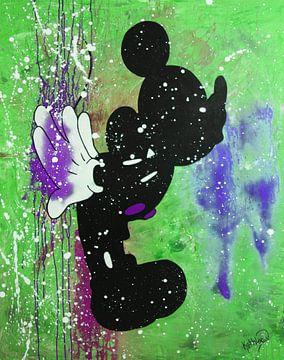 """Mickey Mouse """"Kuss"""" von Kathleen Artist Fine Art"""