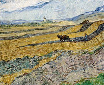 Vincent van Gogh. Akker met boer van 1000 Schilderijen