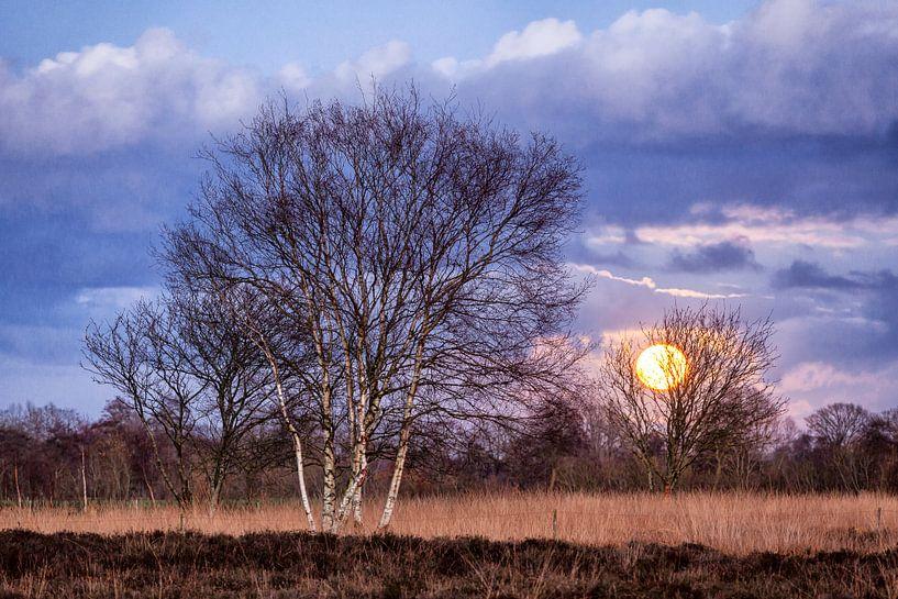 Volle maan tussen zilverberken van Evert Jan Luchies