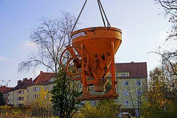 Silo en béton sur un chantier de construction à Halle Saale von Babetts Bildergalerie