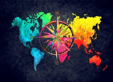 Weltkarte 9 #Karte #Weltkarte von JBJart Justyna Jaszke