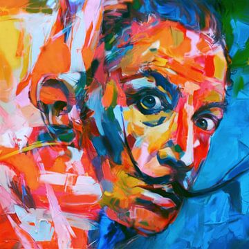 Motiv Salvador Dali - Expressive Colors von Felix von Altersheim