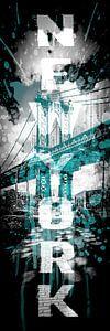 POP ART Manhattan Bridge | türkis