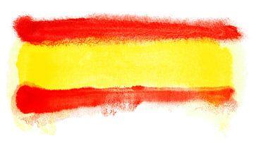 Symbolische nationale vlag van Spanje van Achim Prill