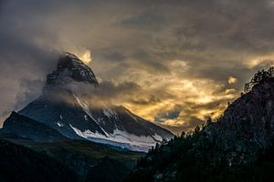 Matterhorn bij zonsondergang Zermatt