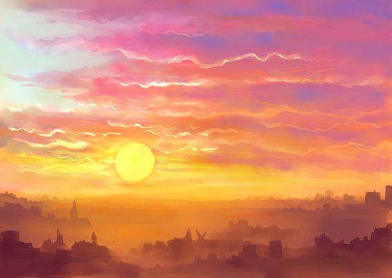 Waar de zon onder gaat van Petra van Berkum