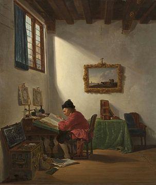 Marchand à son bureau, Abraham van Strij
