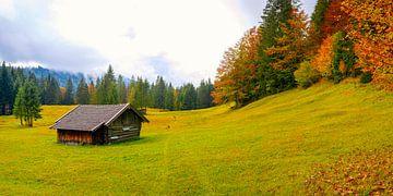 Herfst in Werdenfelser Land van Walter G. Allgöwer