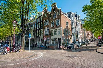 Middeleeuwse huizen aan de Reguliersgracht in Amsterdam van Nisangha Masselink