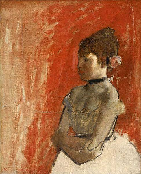 Edgar Degas. Ballet Dancer with Arms Crossed van 1000 Schilderijen
