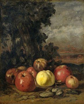 Stilleven met appels, Gustave Courbet van Meesterlijcke Meesters