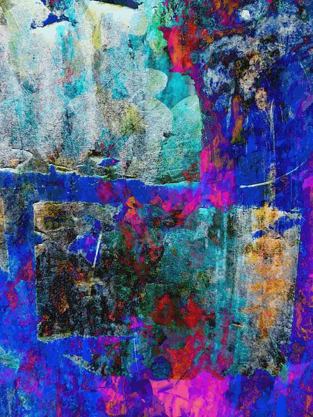Modern, Abstract Digitaal Kunstwerk – Echo From The Past van Art By Dominic