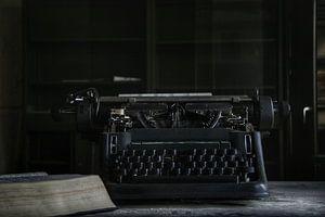 oude typmachine op kantoor