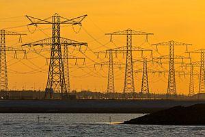 Elektriciteitsmasten te Rotterdam