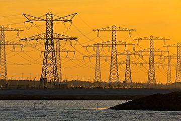 Strommasten in Rotterdam von Anton de Zeeuw