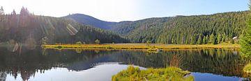 Ambiance automnale au petit lac Arbersee dans la forêt bavaroise sur Udo Herrmann