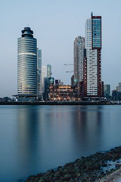 Wilhelminapier - Holland-Amerika-Linie - Rotterdam - Stadtbild - von Katendrecht, Rijnhaven von Eleana Tollenaar