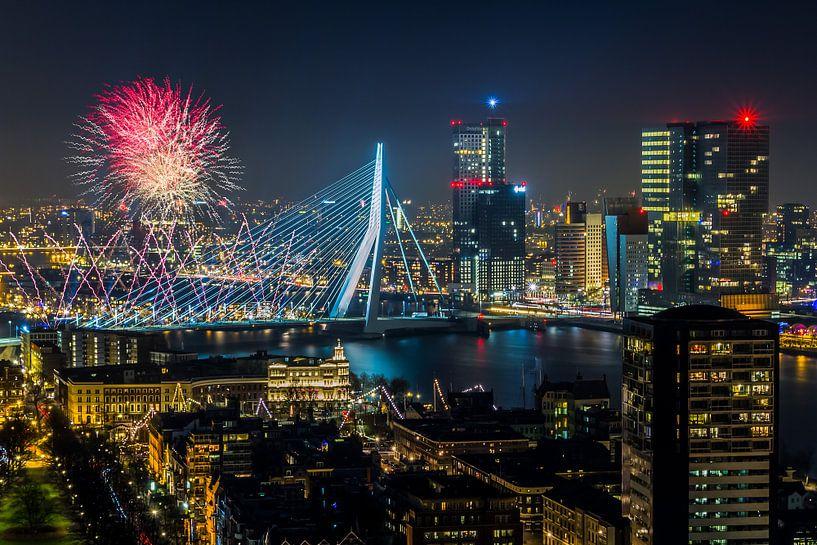 Nationaal Vuurwerk 2014 in Rotterdam van MS Fotografie | Marc van der Stelt