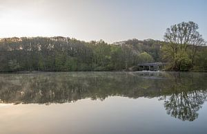 Zonsopkomst op een mooie lente ochtend in de Cranenweyrer