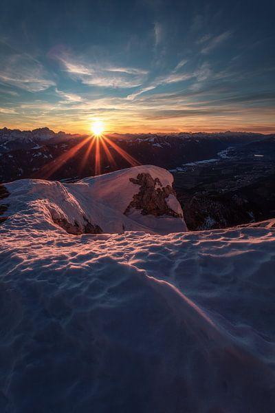 Sonnenuntergang am Dobratsch von Thomas Weber