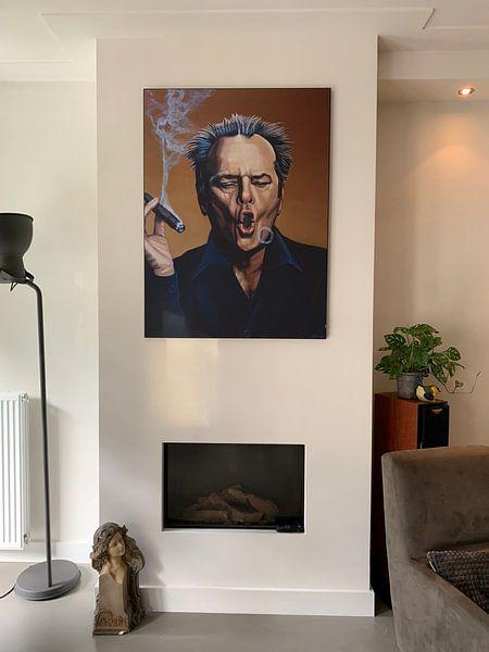 Kundenfoto: Jack Nicholson Schilderij von Paul Meijering