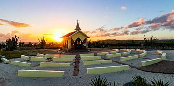 Alto Vista Chapel Aruba pendant le lever du soleil.