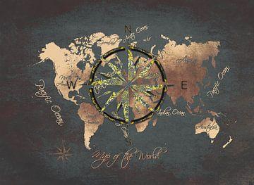 Weltkarte 12 #Karte #Weltkarte von JBJart Justyna Jaszke