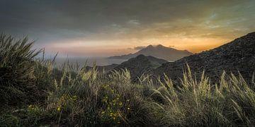 Zonsondergang Cabo de Gata van Peter Poppe