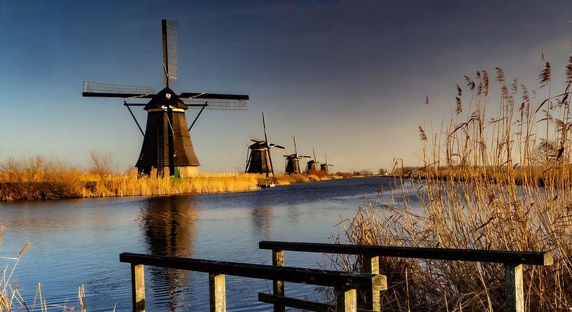 Kinderdijk 1 van Jan Enthoven Fotografie