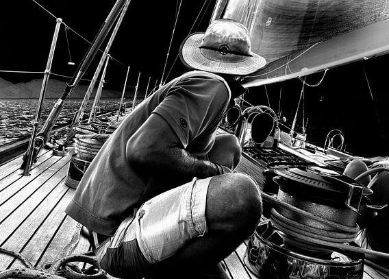 Zeilboot op zee van Anouschka Hendriks
