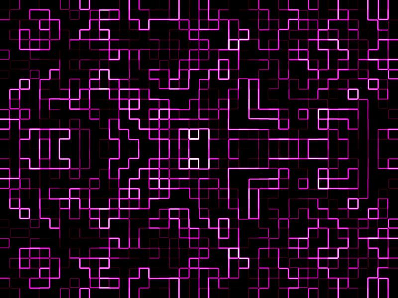 Pixels in Purple van Nicky`s Prints