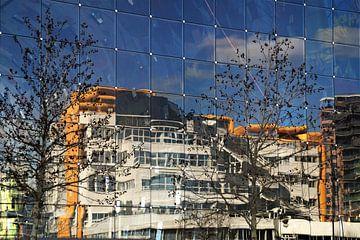 Markthal - Bibliotheek Rotterdam / Markethall Library Rotterdam van Maurits Bredius