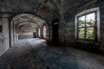 Im Inneren eines verlassenen Gefängnisses von Digitale Schilderijen