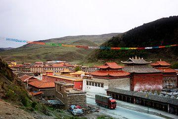 Het dorpje Tagong in Sichuan von André van Bel