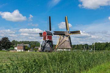 Deux magnifiques moulins à vent hollandais près de Oud Zuilen