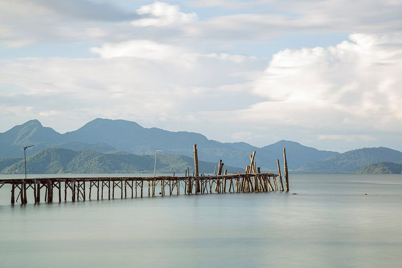 Pier op Koh Wai van Johan Zwarthoed