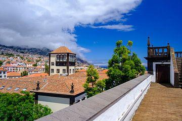 Uitzicht over de daken van Funchal de hoofdstad van Madeira van Sjoerd van der Wal