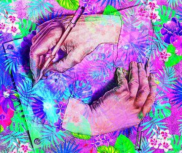 Escher handen van Giovani Zanolino