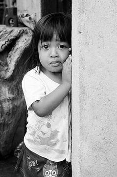 Mädchen in Sidemen, Bali von Jeroen Knippenberg