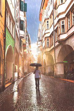 Paraplu-Man van Thomas Heitz