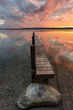 Sonnenuntergang am Starnberger See von Jürgen Rockmann
