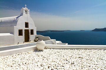 Kapel in Santorini van Erwin Blekkenhorst