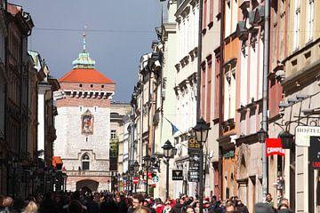 St. Florianss Gate and Street Ulica Florianska , Stare Miasto old town, Krakow, Lesser Poland, Polan