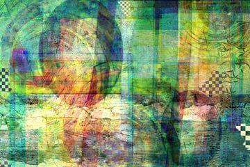 Abstract, groentinten van Rietje Bulthuis