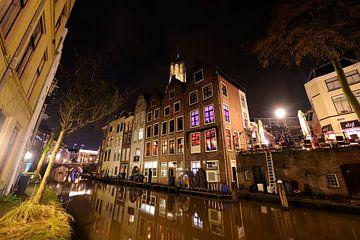 Oudegracht in Utrecht ter hoogte van Donkere Gaard, foto 2 sur