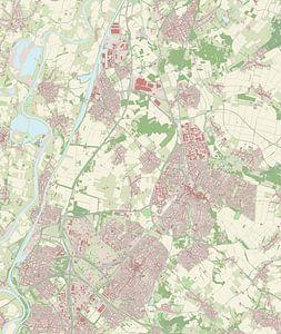 Kaart vanSittard-Geleen