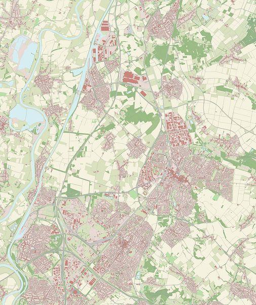 Kaart vanSittard-Geleen van Rebel Ontwerp