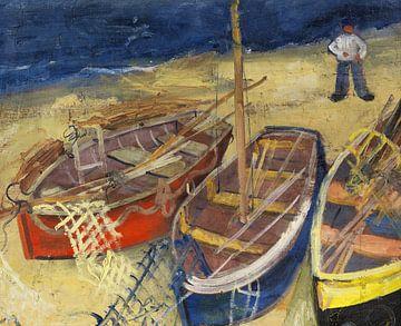 Fischerboote am Strand, FELIX NUSSBAUM, 1929 von Atelier Liesjes