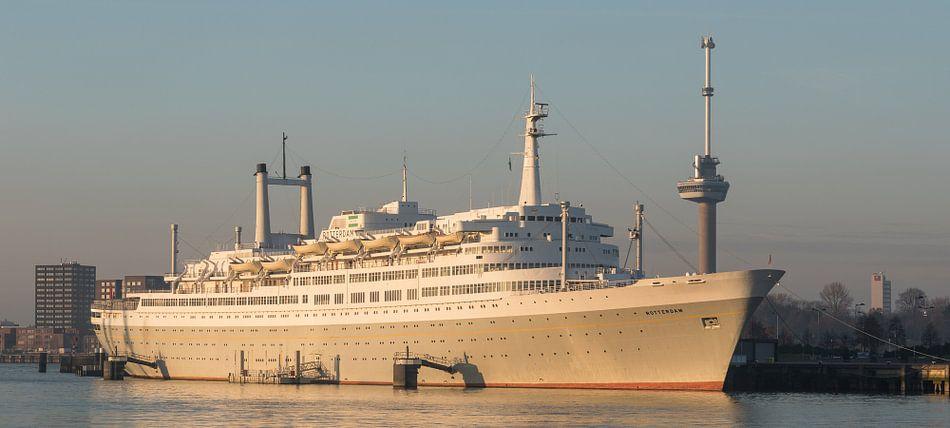 Het SS Rotterdam in Rotterdam.